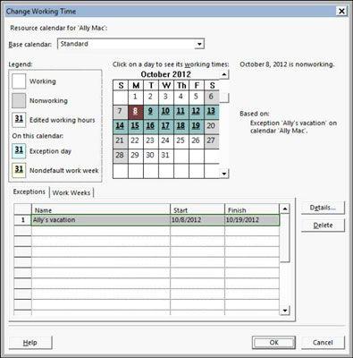 ���� - De tarefas e recursos Os calendários no Project 2013