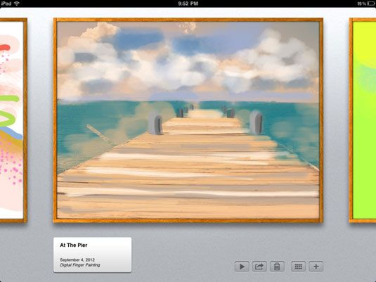 ���� - Ensinar os alunos a pintar uma fotografia com escovas iPad App