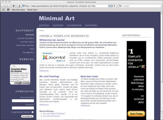 ���� - Dez Melhores Sites de modelo Joomla