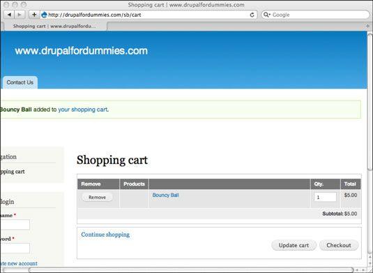 ���� - Testando o processo de encomenda site Drupal