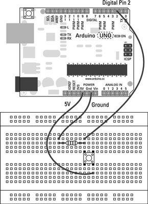 ���� - O esboço Botão para o Arduino