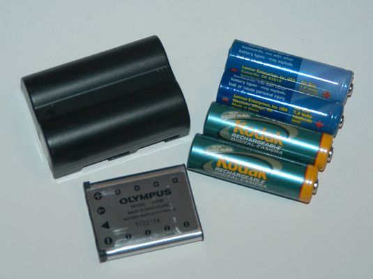 ���� - Os diferentes tipos de baterias para a câmera Digital