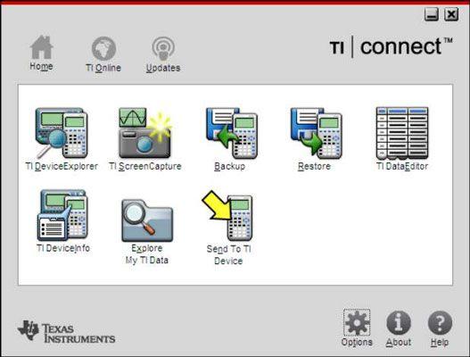 ���� - TI Connect Software para a TI-84 Plus