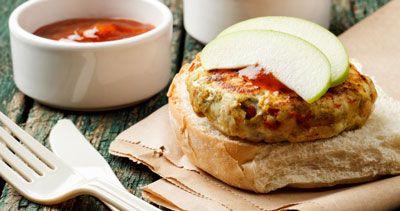 ���� - Turquia Burger e batata-frita