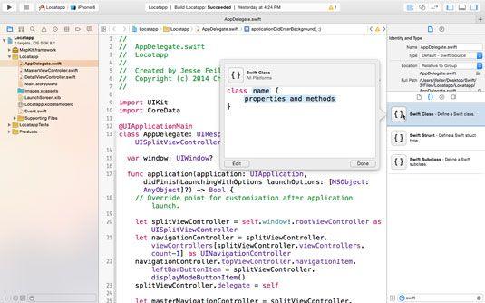 ���� - Usando trechos de código em Swift