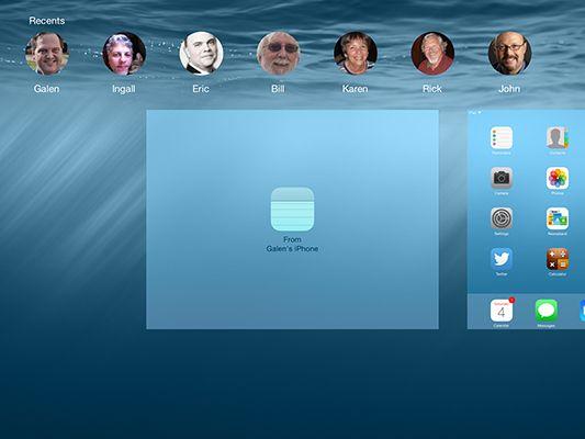 ���� - Usando Handoff com o seu iPad para transferir Trabalho