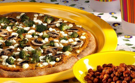 ���� - Feijão branco e tomate Pesto Pizza