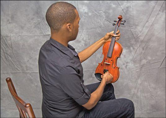 ���� - Trabalhando do violino estacas e Belas Tuners
