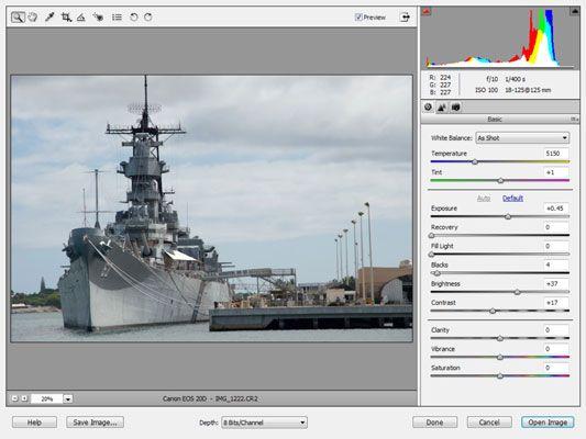 ���� - Trabalhar com o Camera Raw imagens no Photoshop Elements 9