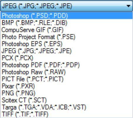 ���� - Trabalhando com formatos de arquivo no Photoshop Elements 9