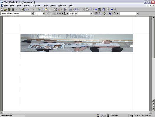 ���� - Trabalhando com gráficos no WordPerfect 11