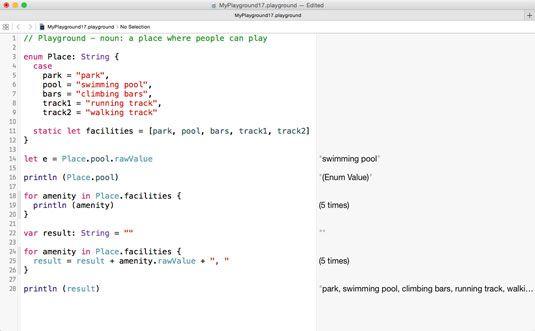 ���� - Trabalhando com membros de uma enumeração em Swift