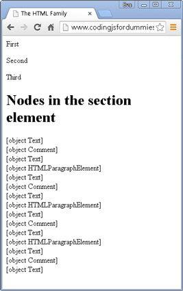 ���� - Trabalhando com relações de nó para código com javascript