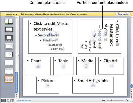 ���� - Trabalhando com layouts de slide mestre no PowerPoint 2011 para Mac