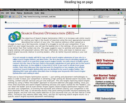 ���� - Escrever eficaz cabeçalhos de corpo para uma melhor classificação do Search Engine