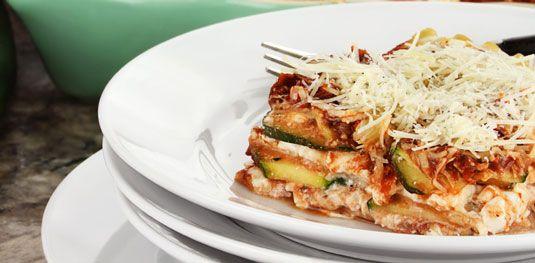 ���� - Zucchini Lasagna Receita